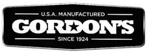 GORDON'S U.S.A. MANUFACTURED SINCE 1924