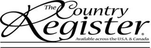 THE COUNTRY REGISTER AVAILABLE ACROSS THE U.S.A. & CANADA
