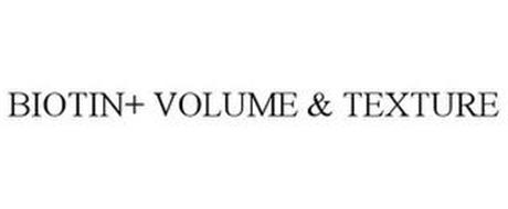 BIOTIN+ VOLUME & TEXTURE