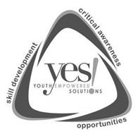 YES! YOUTH EMPOWERED SOLUTIONS CRITICAL AWARENESS OPPORTUNITIES SKILL DEVELOPMENT
