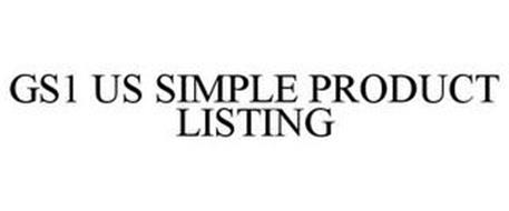 GS1 US SIMPLE PRODUCT LISTING