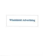 WINDSHIELD ADVERTISING