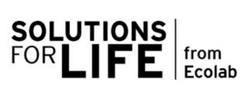 SOLUTIONS FOR LIFE FROM ECOLAB