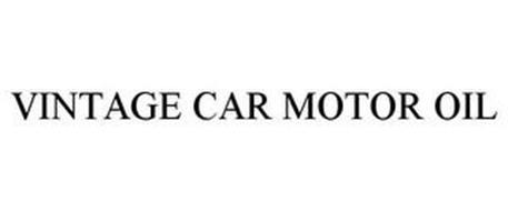 VINTAGE CAR MOTOR OIL