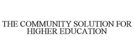 THE COMMUNITY SOLUTION IN HIGHER EDUCATION