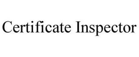 CERTIFICATE INSPECTOR
