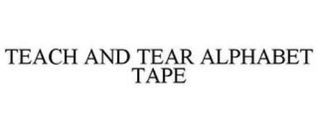 TEACH AND TEAR ALPHABET TAPE