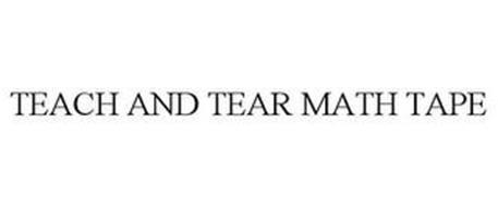 TEACH AND TEAR MATH TAPE