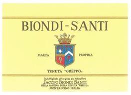 BIONDI-SANTI MARCA PROPRIA TENUTA 'GREPPO' IMBOTTIGLIATO ALL'ORIGINE DAL VITICULTORE JACOPO BIONDI SANTI NELLA CANTINA DELLA TENUTA