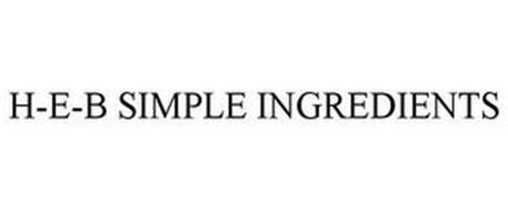 H-E-B SIMPLE INGREDIENTS