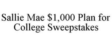 SALLIE MAE $1,000 PLAN FOR COLLEGE SWEEPSTAKES