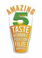 AMAZING 5 TASTE VITAMIN C POTASSIUM FOLATE NO ADDED SUGAR