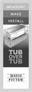 MEASURE MAKE INSTALL TUB OVER TUB BATH FITTER