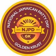 NATIONAL JAMAICAN PATTY DAY EST. NJPD 2015 GK GOLDEN KRUST