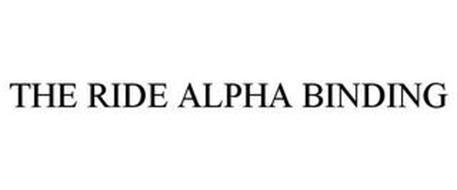 THE RIDE ALPHA BINDING