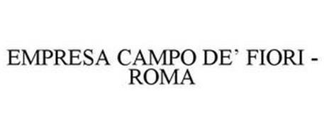 EMPRESA CAMPO DE' FIORI - ROMA