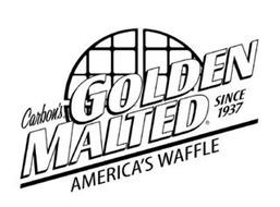 CARBON'S GOLDEN MALTED AMERICA'S WAFFLESINCE 1937