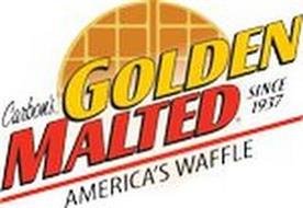CARBON'S GOLDEN MALTED AMERICA'S WAFFLE SINCE 1937