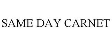 SAME DAY CARNET