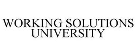 WORKING SOLUTIONS UNIVERSITY