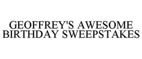 GEOFFREY'S AWESOME BIRTHDAY SWEEPSTAKES