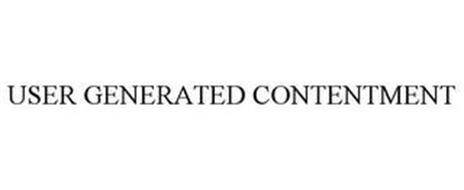 USER GENERATED CONTENTMENT