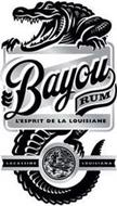 BAYOU RUM L'ESPRIT DE LA LOUISIANE LACASSINE LOUISIANA