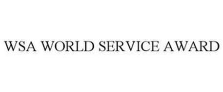 WSA WORLD SERVICE AWARD