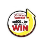 ALWAYS FRESH TIM HORTONS CAFE & BAKE SHOP RRROLL UP THE RIM TO WIN
