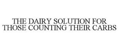 THE DAIRY SOLUTION FOR THOSE COUNTING THEIR CARBS