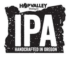 HOP VALLEY BREWING CO. IPA HANDCRAFTED IN OREGON