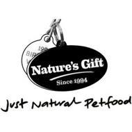 199 BIR V NATURE'S GIFT SINCE 1994 JUST NATURAL PETFOOD