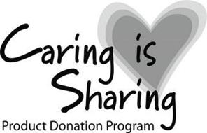 CARING IS SHARING PRODUCT DONATION PROGRAM