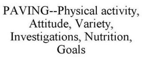 PAVING--PHYSICAL ACTIVITY, ATTITUDE, VARIETY, INVESTIGATIONS, NUTRITION, GOALS