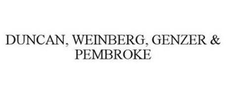 DUNCAN, WEINBERG, GENZER & PEMBROKE