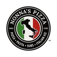 NONNA'S PIZZA SINCE 1985 PIZZA · PASTA · SUBS · ITALIAN ICE