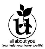 U ALL ABOUT YOU {YOUR HEALTH · YOUR HOME · YOUR LIFE}
