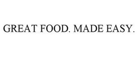 GREAT FOOD. MADE EASY.