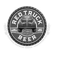 RED TRUCK BEER · COMPANY · ALL NATURAL HAND BUILT B.C. CRAFT HISTORIC BREWERY CREEK, VANCOUVER B.C.