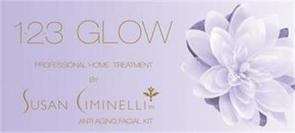 1-2-3 GLOW PROFFESIONAL HOME TREATMENT BY SUSAN CIMINELLI ANTI AGING FACIAL KIT