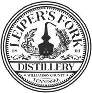 LEIPER'S FORK DISTILLERY 1801 WILLIAMSON COUNTY TENNESSEE