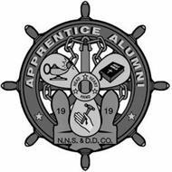 APPRENTICE ALUMNI HEAD HEART HAND 1919 N.N.S. & D.D. CO.
