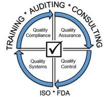 TRAINING * AUDITING * CONSULTING QUALITY COMPLIANCE QUALITY ASSURANCE QUALITY SYSTEMS QUALITY CONTROL ISO * FDA