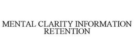 MENTAL CLARITY INFORMATION RETENTION