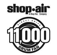SHOP·AIR A SHOP-VAC COMPANY DIRECT DRIVE 11,000 DRUM FAN