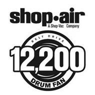 SHOP·AIR A SHOP-VAC COMPANY BELT DRIVE 12,200 DRUM FAN