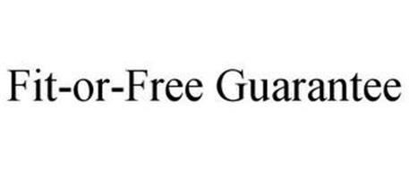 FIT-OR-FREE GUARANTEE