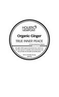 HOLISTIC VIEWPOINT ORGANIC GINGER TRUE INNER PEACE BY THOMAS ACUPUNCTURE & WELLNESS. WE OFFER 100% ORGANIC FUNCTIONAL TEAS, WHICH ARE NOT ONLY SUPERIOR IN QUALITY, TASTE AND AROMA, BUT ALSO PROVIDE THE BENEFITS OF HEALTHY FOOD. NET WT. 3.53 OZ (100G), 50 TEA BAGS MADE IN USA