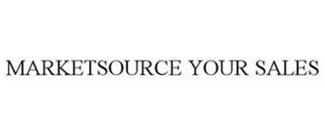MARKETSOURCE YOUR SALES