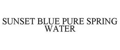 PURE SPRING WATER SUNSET BLUE